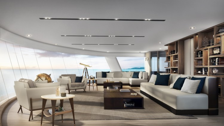 Silversea Origin Observation lounge