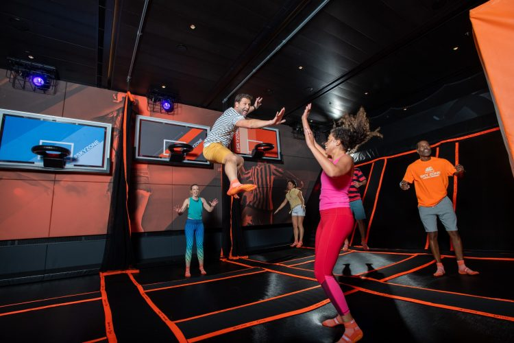 Carnival Cruises Panorama cruise ship SkyZone trampolines