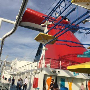 Carnival Cruises Panorama cruise ship sports area