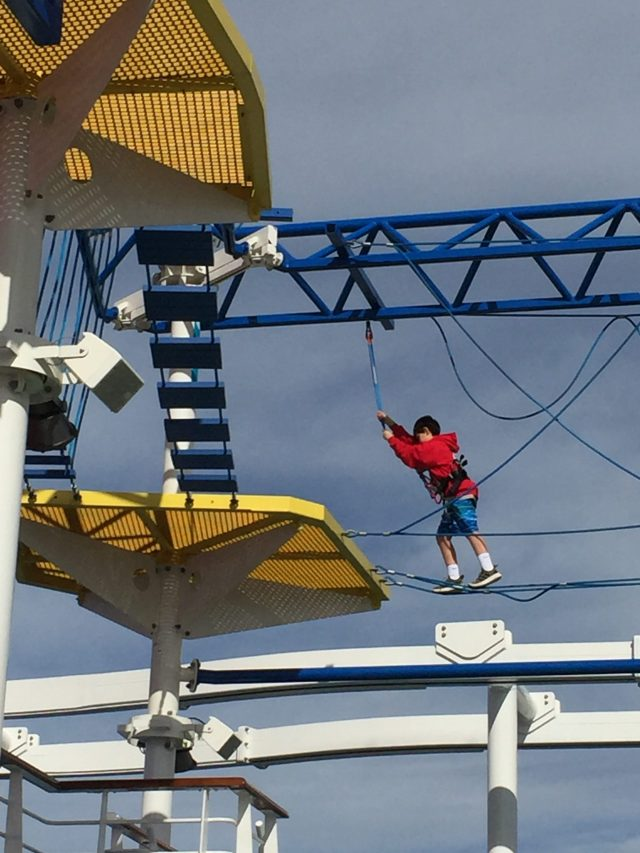 Carnival Cruises Panorama cruise ship ropes course