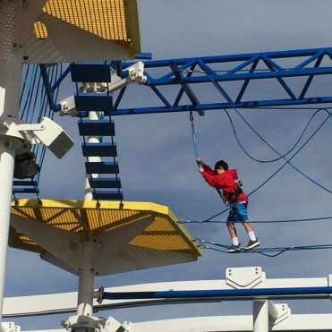 Carnival Cruises Panorama cruise ship ropes course