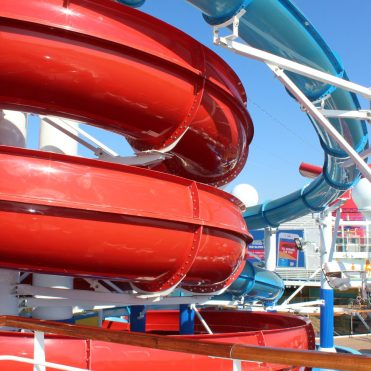 Carnival Cruises Panorama cruise ship red waterslide