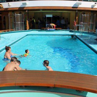 Carnival Cruises Panorama cruise ship main pool