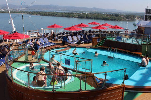 Carnival Cruises Panorama cruise ship aft pool