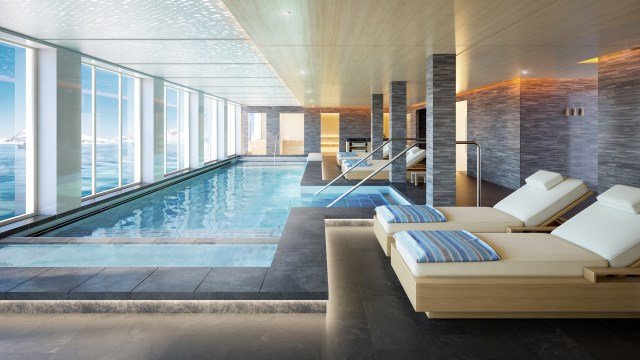 Viking Cruises Expedition Ship Nordic spa hydrotherapy pool