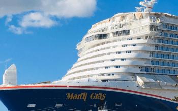 Carnival Cruises Mardi Gras exterior bow