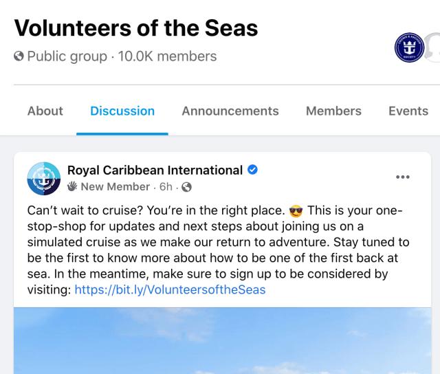 Royal Caribbean volunteers of the seas