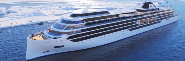 Viking Cruises Octantis cruise ship exterior rendering bow