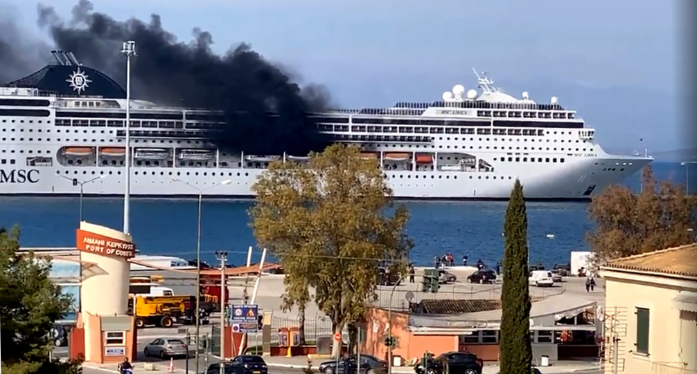 Update on fire on MSC Cruises Lirica cruise ship in Corfu, Greece