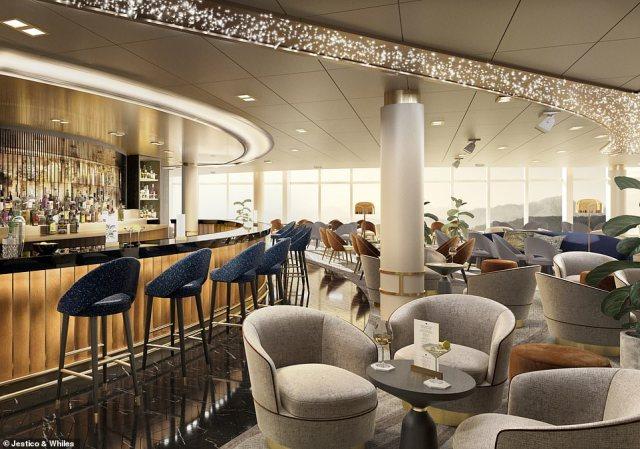 P&O Cruises Arvia Amber Lounge