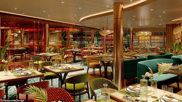 P&O Cruises Green & Co restaurant