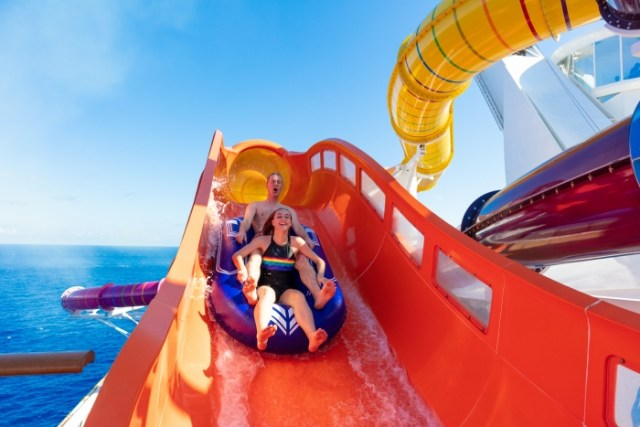 Royal Caribbean Navigator of the Seas red waterslide