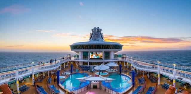 Royal Caribbean Explorer of the Seas pool deck night