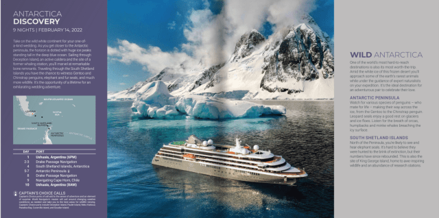 Atlas Ocean Voyages mountains with snow and icebergs
