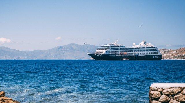 Azamara cruise ship cruising