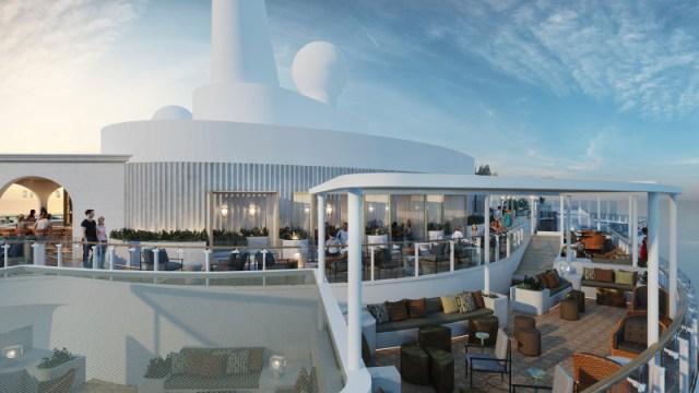 Celebrity Cruises Beyond cruise ship outdoor lounge area