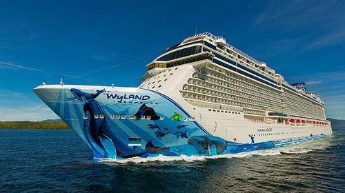Norwegian Cruise Line Bliss hull art