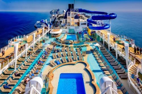 Norwegian Cruise Line Bliss pool deck