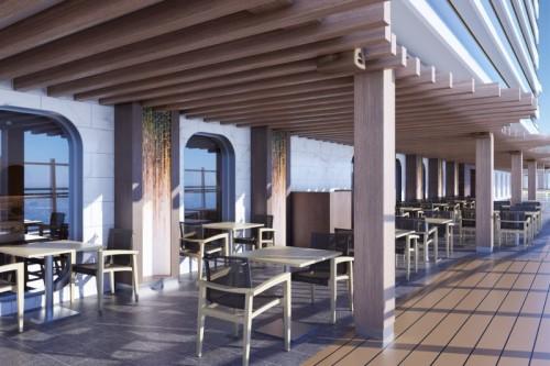 norwegian cruise line prima norwegianprima ondaby scarpetta outside dining rendering