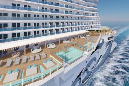 Norwegian cruise line prima norwegianprima oceanboulevard infinitybeach wideview rendering