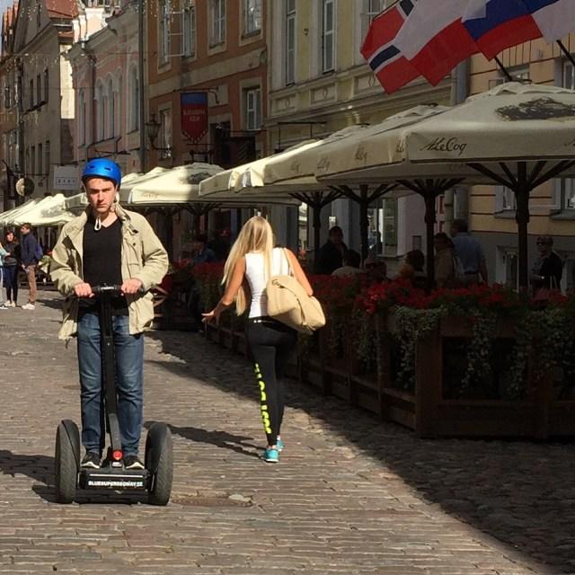 Tallinn Estonia Baltic Cruise square segway