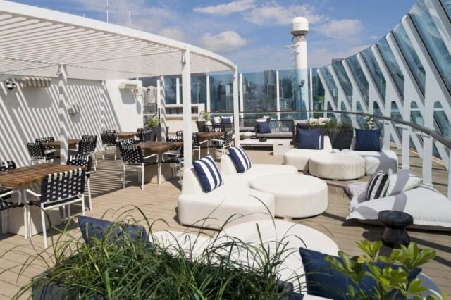Celebrity Cruises retreat sundeck with plants
