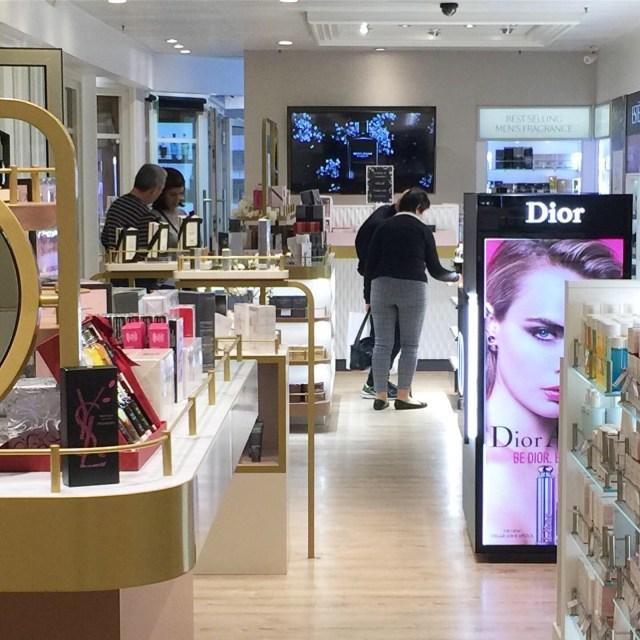 Duty free shopping on ships cosmetics