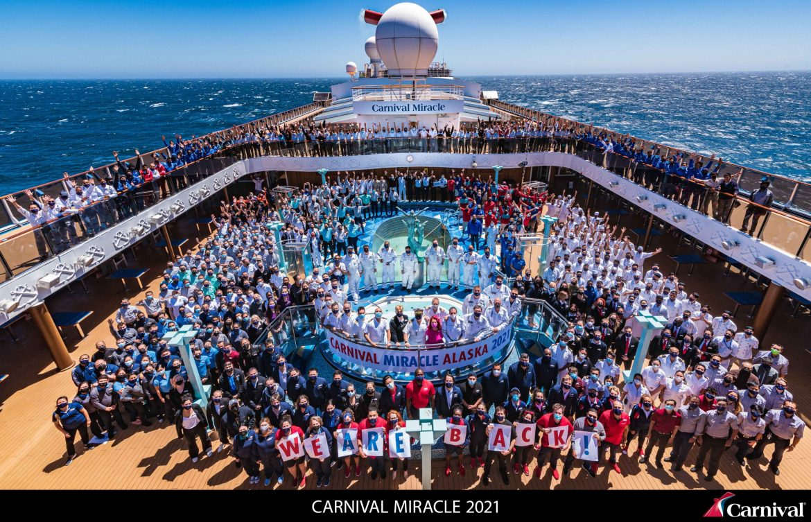 Carnival Miracle cruises from Seattle to Alaska