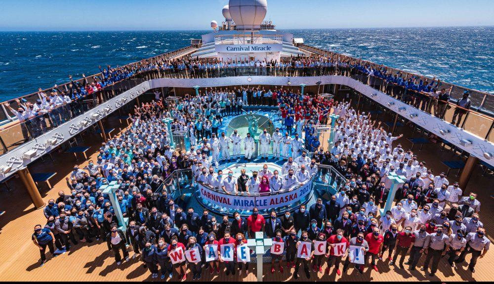 CArnival Miracle crew on board Alaska cruise