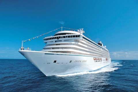 Crystal Cruises Serenity sets sail from Nassau