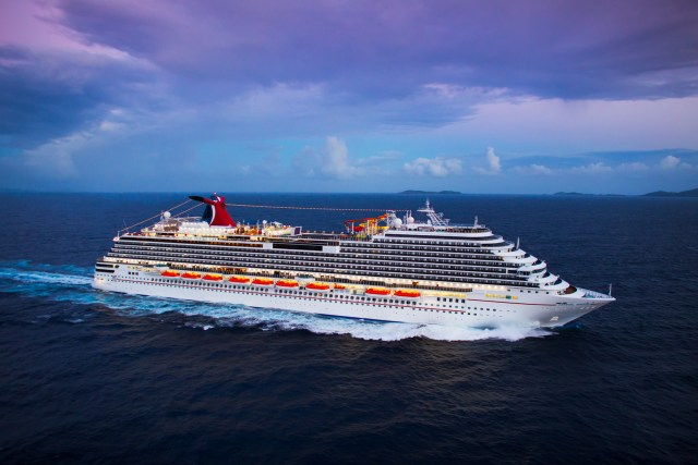 Carnival Breeze arial photo