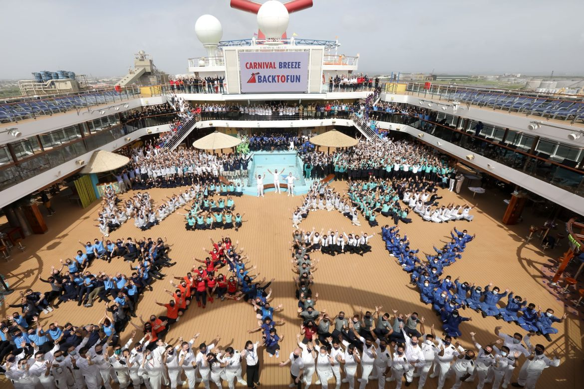 Carnival Breeze departs from Galveston, Texas