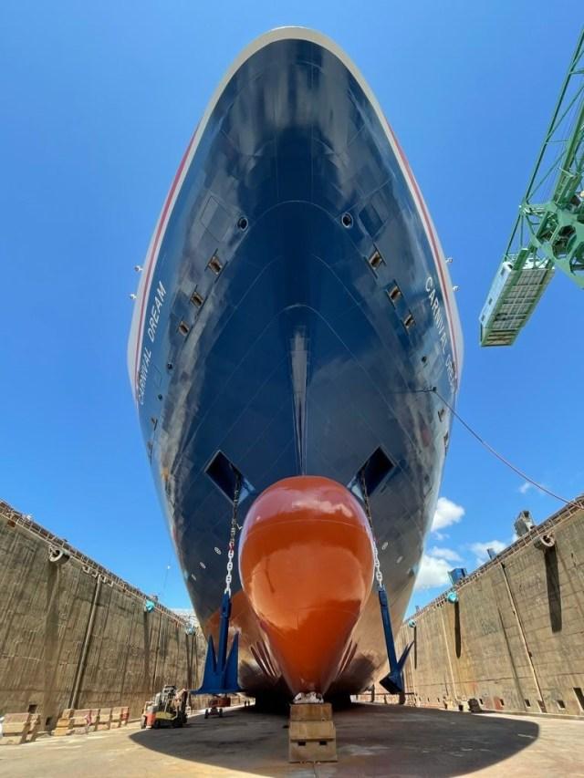 carnival dream new hull design bow