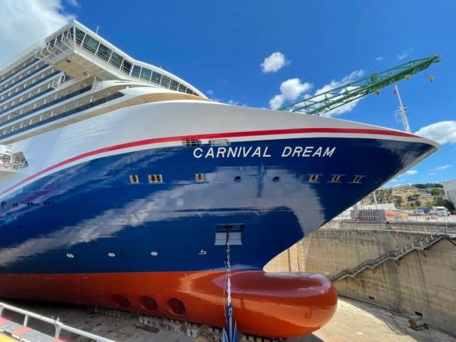 carnival cruise line dream gets new hull desgin