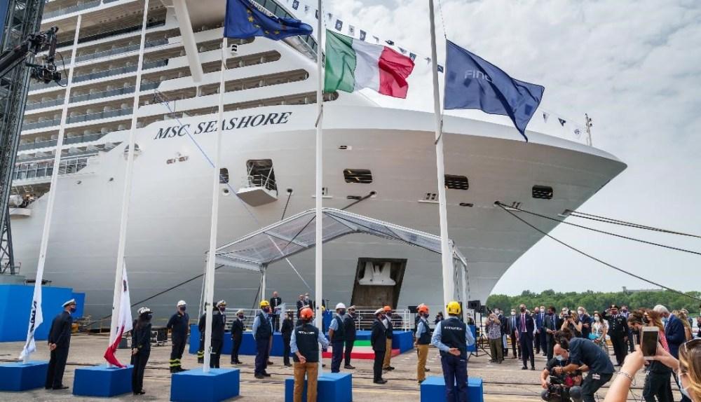 MSC Cruises seashore ceremony