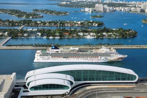 Norwegian cruise line new miami port terminal