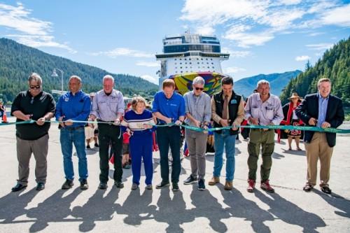 Norwegian Encore Alaska completion ceremony