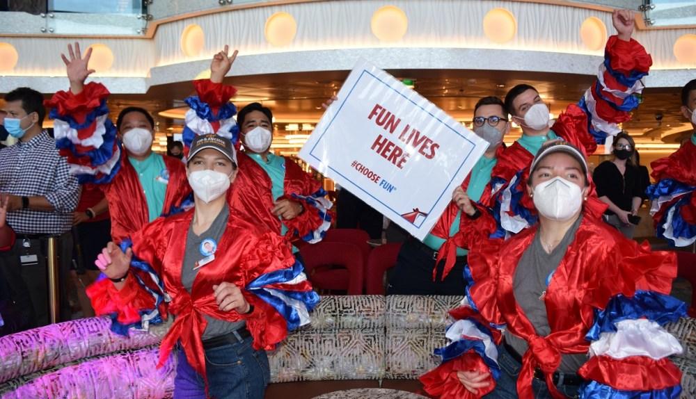 Carnival Mardi Gras maiden voyage party