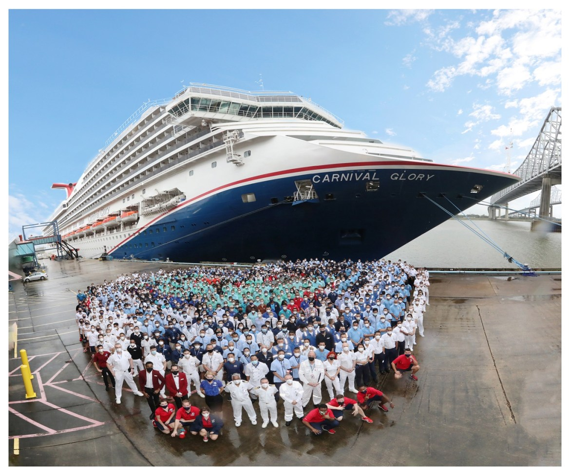 Carnival Cruise Line Glory sets sail from New Orleans