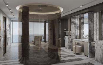 Regent Seven Seas Grandeur Regent suite showerstall bathroom