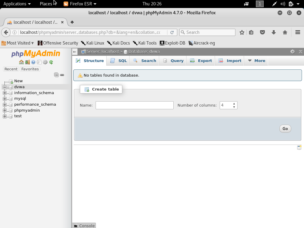 setup own pentesting environment6 - Setup own PenTesting Environment (DVWA) on your Kali Linux