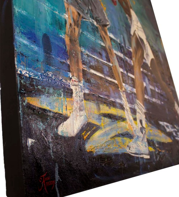 Aj Klitschko Oil Painting Signed 1 - Officially