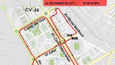 calles cortadas en Valencia