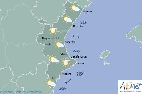 EL TIEMPO| Se espera lluvia y una bajada de temperaturas en la Comunitat Valenciana