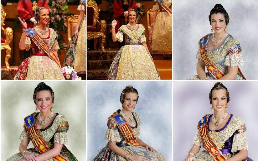 GALERÍA| Así han sido los trajes oficiales elegidos por las Falleras Mayores de València para su Exaltación
