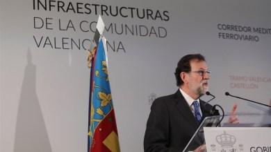 Rajoy vuelve por tercera vez a la Comunitat en menos de un mes para participar en un acto del PP en Elche (Alicante)
