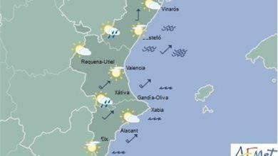 Las temperaturas subirán este jueves hasta 8ºC en la Comunitat y puede llover por la tarde en el interior