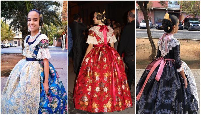 GALERÍA| Así son los nuevos trajes de valencianas de Marina y Sara, Falleras Mayores de València