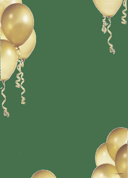 gold balloon border psd official