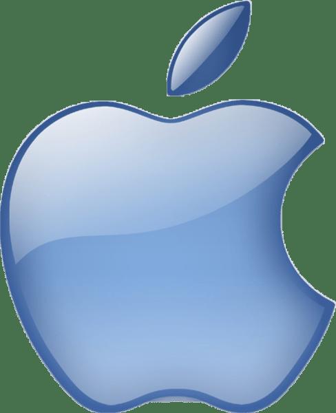 blue aqua apple logo